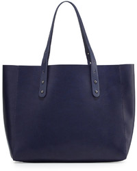 Metallic Lined Tote Bag Marina Navygunmetal