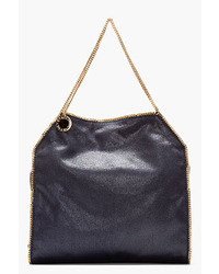 Stella McCartney Navy Gold Big Tote Baby Chain