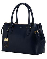 Lauren Ralph Lauren Newbury Leather Double Zip Shopper