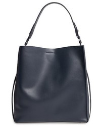 AllSaints Paradise Northsouth Calfskin Leather Tote Black