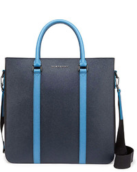 Burberry Pebbled Leather Tote Bag Navylight Blue