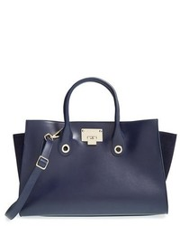 Jimmy Choo Riley Leather Suede Tote