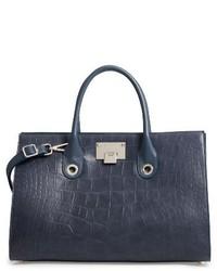 Jimmy Choo Riley Leather Tote Blue