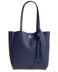 Vince Camuto Small Taja Leather Tote With Tassel Charm Blue