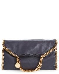 Stella McCartney Falabella Faux Leather Foldover Tote Blue