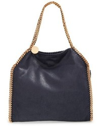 Stella McCartney Small Falabella Shaggy Deer Faux Leather Tote Blue