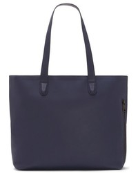 Tolve leather tote bag blue medium 784916
