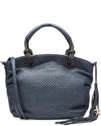Henry Beguelin Woven Leather Tote With Tassel