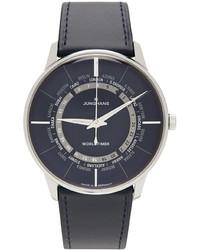 Junghans Blue Silver Meister Worldtimer Watch
