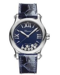 Chopard Happy Sport Diamond Stainless Steel Leather Strap Watch