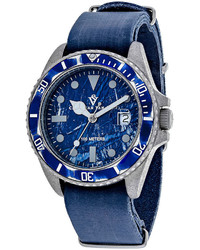 Christian Van Sant Christian Van Sant Montego All Blue Leather Strap Watch