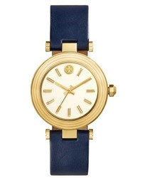 Tory Burch Classic T Leather Strap Watch 36mm