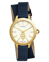 Tory Burch Collins Goldtone And Leather Strap Watch