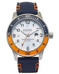Sperry Diver Leather Strap Watch 45mm