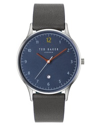 Ted Baker London Ethan Leather Watch