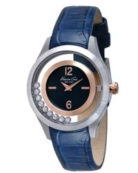 Kenneth Cole New York Watch Blue Leather Strap 34mm Kc2784
