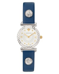 Versace Mini Vanity Leather Watch