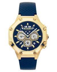 Versus Versace Palestro Chronograph Leather Watch