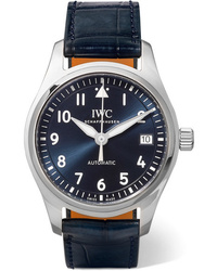 IWC SCHAFFHAUSEN Pilots Automatic 36mm Stainless And Alligator Watch