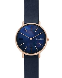 Skagen Signatur Leather Watch