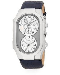 Philip Stein Teslar Signature Chronograph Stainless Steel Leather Watch
