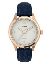 Timex Waterbury Traditional Leather Watch