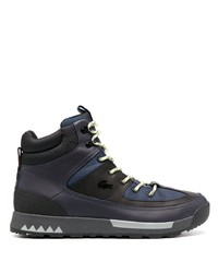Lacoste Panelled High Top Trainer Boots