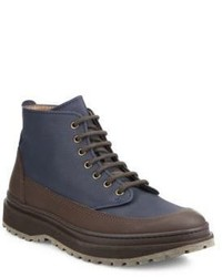 Brunello Cucinelli Two Toned Leather Boots