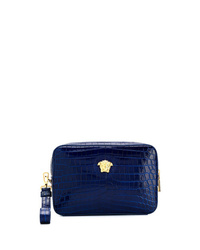 Versace Embossed Crocodile Effect Clutch