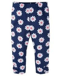Gerber Toddler Girls Floral Legging Pant Blue