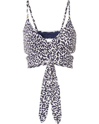 Stella McCartney Leopard Print Wrap Bikini Top