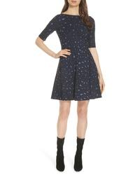 kate spade new york Leopard Print Lace Up Ponte Dress