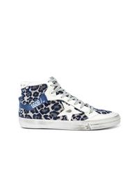 26aeb03fb5c4 Navy Leopard Sneakers for Women | Women's Fashion | Lookastic.com