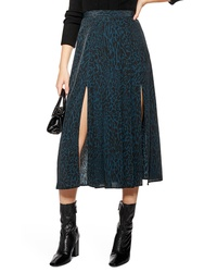 Topshop Box Pleat Midi Skirt