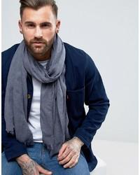 Asos Lightweight Blanket Scarf In Denim Look