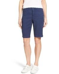 NYDJ Catherine Linen Blend Bermuda Shorts