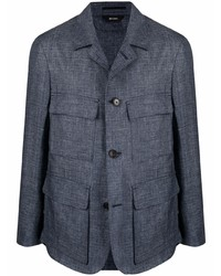Ermenegildo Zegna Flap Pockets Single Breasted Jacket