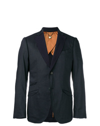 Maurizio Miri Unfinished Lapel Suit Jacket