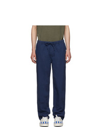 Onia Blue Linen Carter Trousers