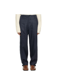 Maison Margiela Navy Linen Trousers