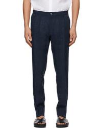 Dolce & Gabbana Navy Linen Trousers