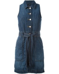 J Brand Buttoned Belted Dress
