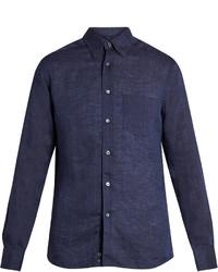 Ermenegildo Zegna Long Sleeved Linen Shirt