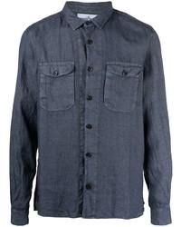 Stone Island Pocketed Linen Shirt
