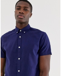 Jack & Jones Essentials Short Sleeve Linen Mix Shirt