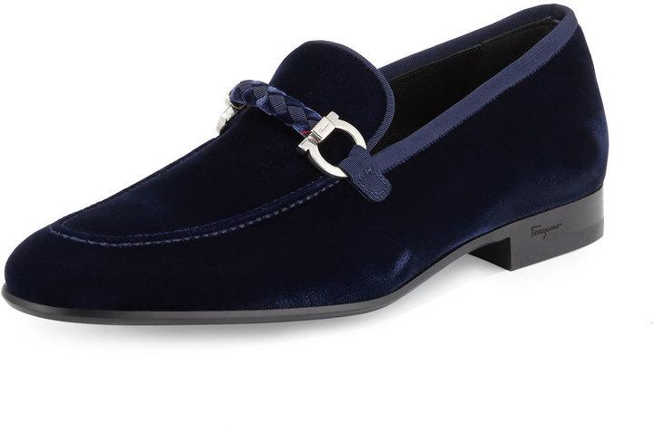 193592a3ff4d Men s Fashion › Footwear › Dress Shoes › Loafers › Neiman Marcus › Salvatore  Ferragamo › Navy Loafers Salvatore Ferragamo Lord 2 Velvet Slip On Loafer  Blue ...