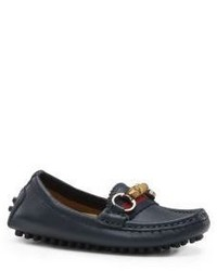 Gucci Toddlers Leather Driver Loafers