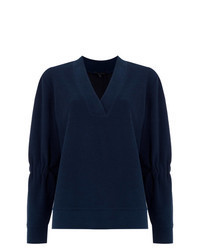 Navy Long Sleeve Blouse