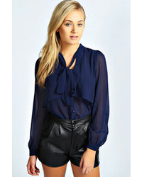 92716fa8c4449c Boohoo Jacey Open Shoulder High Neck Long Sleeve Blouse Out of stock ·  Boohoo Alexis Pussy Bow Blouse