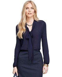 Brooks Brothers Bow Front Blouse